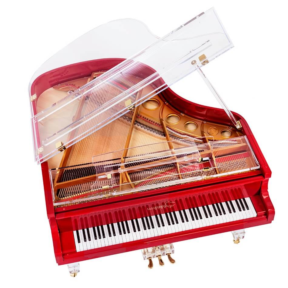 Aire™ Red Baby Grand Piano_1