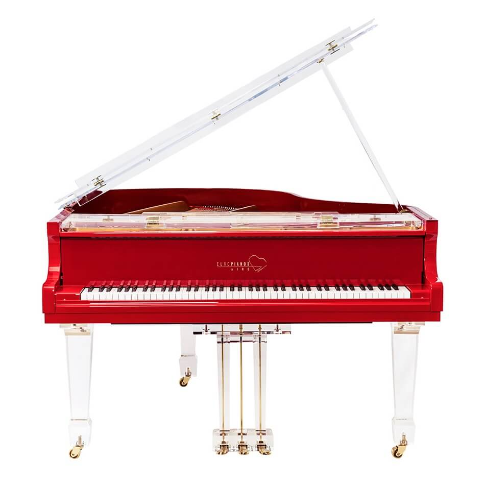 Aire™ Red Baby Grand Piano_5