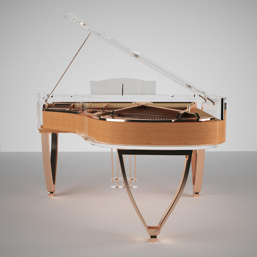 rose gold piano